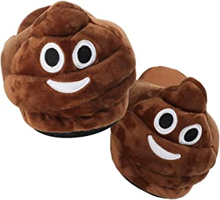 Unisex Emoticons Slippers Plush Fluffy Cotton Slippers, Warm and Comfortable Cute House Shoes for Indoor or Outdoor