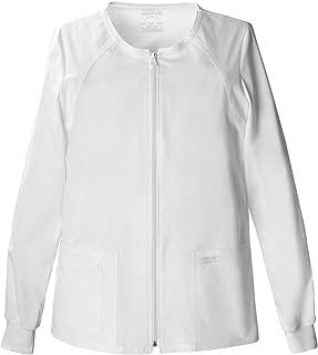 Cherokee Workwear Women's Zip Front Warm-Up Jacket_White_XXXXX-Large,4315