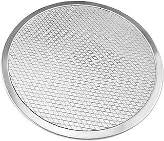 C/N Moule à pizza rond en acier et aluminium pour croûte croustillante 30,5 cm