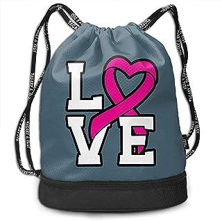 Bernie Dodd Mochila con Cordón Mochila con Cordón Mochila Sport Gym Mochila con Cordón Mochila Sport Gym Mochila Love Pink Ribbon Mochila De Concientización sobre El Cáncer De Mama