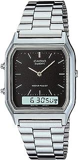Casio Unisex-Adult Quartz Watch, Analog-Digital Display and Stainless Steel Strap