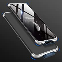 Ronshin Fashion for For VIVO V17 Pro Cellphone Cover Dust and Scratch Proof Hard PC Phone Case Screen Protector Elegant Shell black silver
