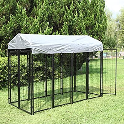 Sandinrayli Large Outdoor Dog Kennel Cat Pet Shelter Waterproof Cover Shade Enclosure House Cage