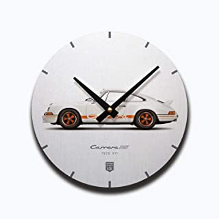 GarageProject101 1973 Classic 911 Carrera RS (White) Illustration Wall Clock