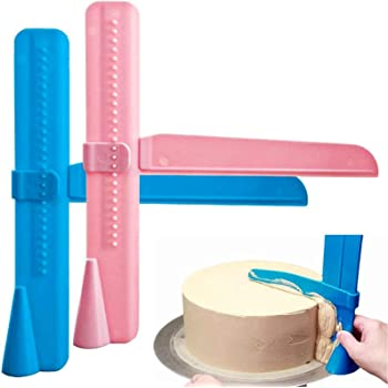 Cake Scraper, 2 Pack Adjustable Fondant Smoother Icing Smoother Fondant Smoothing Tool for Spreading Frosting on Cakes