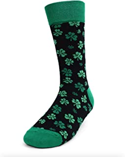 Urban-Peacock Men's Novelty Fun Dress Socks - Multiple Patterns (Lucky Irish St.Patrick's Day)