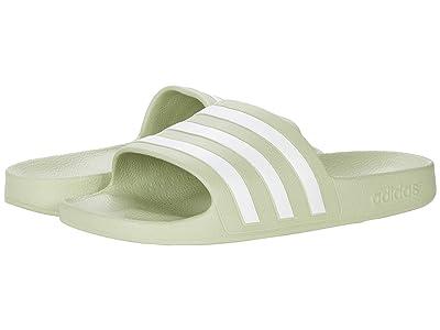 adidas Adilette Aqua Slides (Halo Green/White/Halo Green) Women