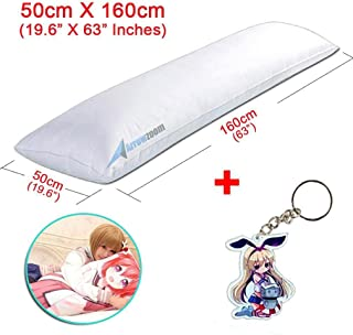 Arrowzoom New Soft Polyester Filling Long White Bed Support Body Pillow with More Stuffing 160 x 50cm / 62 x 19.6 Inches