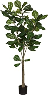 Sullivans 0571POT Decorative Fiddle Leaf Tree Artificial Potted, Plant Green, 5 Feet x 27 Inch