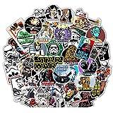 CHUDU Pegatina de Star Wars de Dibujos Animados para Ordenador portátil, Guitarra, monopatín, Equipaje, papelería, Casco, Pegatina Impermeable, Juguete para niños, 50 Uds.