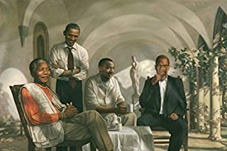 Laminated THE PIONEERS POSTER Mandela - Malcolm X - Obama - Martin Luther King Civil Rights Poster 24x36
