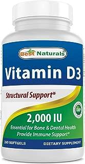 Best Naturals Vitamin D3 2000 IU 240 Softgels