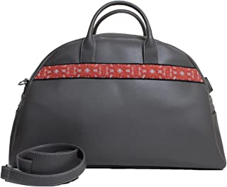 Travel Bag Embroidered Grey
