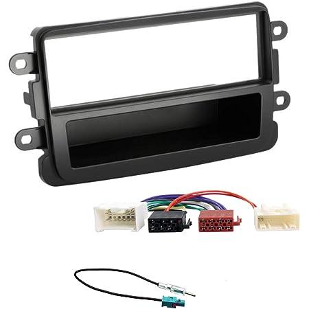 Sound Way 1 Din Autoradio Radioblende Radiorahmen Iso Verbindungskabel Antennenadapter Kompatibel Mit Dacia Duster Sandero Navigation
