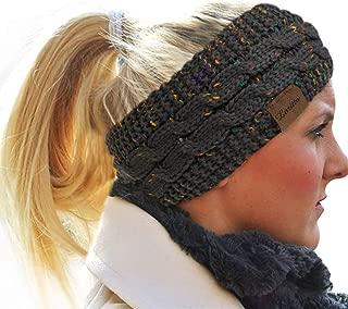 Womens Ear Warmers Headbands Winter Warm Fuzzy Cable Knit Head Wrap Gifts