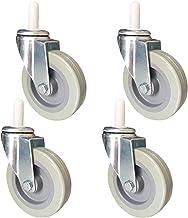 4 stks Meubelwielen Zware Swivel Caster Wheels, 100mm 4in Kitchen Trolley Casters, PU Dining Cars Castor Wheels, voor Hote...