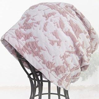 抗がん剤帽子 医療用帽子 フラワーコットンガーゼワッチ ピンク