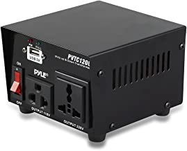 Step Up and Down Converter - 100 Watt Voltage Converter Transformer w/ USB Charging Port, UK Power Adapter, AC 110 / 120 to 220 / 240 Volt Vice Versa, 110V/120V/220V/240V Input Voltage - Pyle PVTC120U