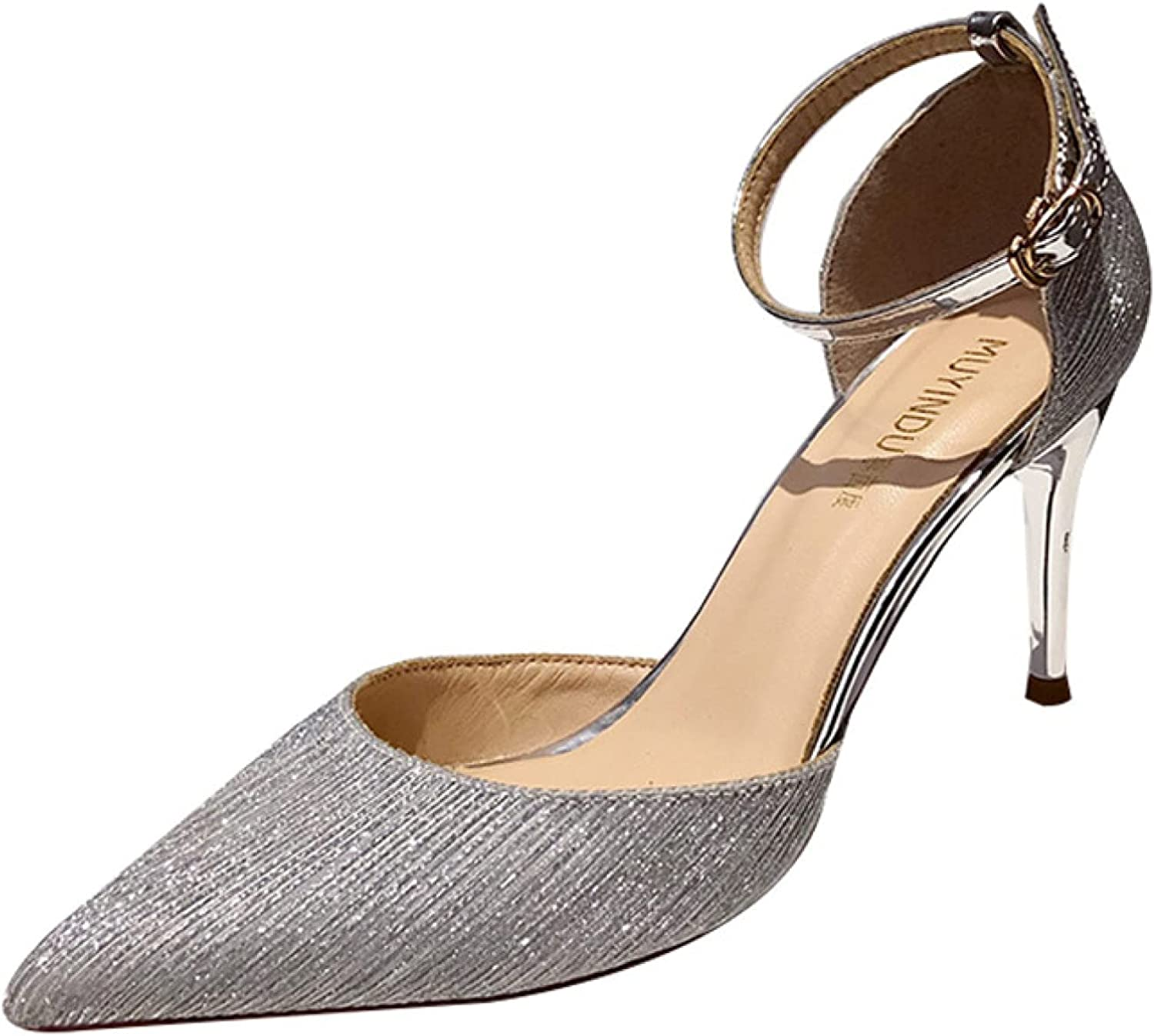 Elegant Stilettos SEAL limited product High Heel Sandals for Strap Women with Ankle Cheap super special price B