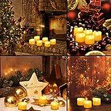 【2020 Neue】ORIA 12 LED Kerzen, Flammenlose Kerzen LED Teelicht Elektrische Kerzen Lichter, Batteriebetriebene Flackern Teelichter Kerzen Tealights für Weihnachten, Hochzeit, Party, etc - 2