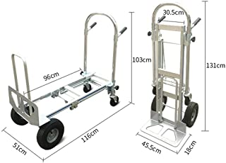 TFCFL 3 in 1 Aluminum Folding Hand Truck Convertible 350kg Capacity Industrial Cart Weight 18KG