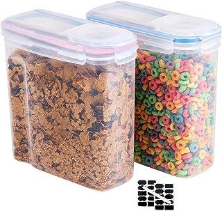 VIccoo Alimentos Secos Cereal Harina Pasta Dispensador de Almacenamiento de Alimentos Contenedor de arroz Caja sellada Verde
