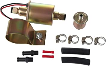 Larbi GA8012S E8012S FD0002 P60430 EP12S Low Pressure (2.5-4 PSI)12V Heavy Duty Gas Diesel In-Line In-Tank Electric Fuel Pump With Installation Kit Metal Solid Petro Gasoline or Diesel Engine
