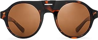 JIM HALO - gafas de sol polarizadas hombres mujeres gafas de conducción planas redondas de plástico
