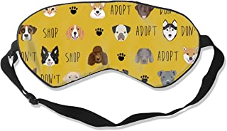 Adopt Don't Pet Adoption Adopt A Dog, Adopt A Cat, Breathable Pure Silk Sleep Eye Mask Best Sleeping Eye Cover for Travel, Nap, Blindfold with Adjustable Strap for Men, Women or Kids