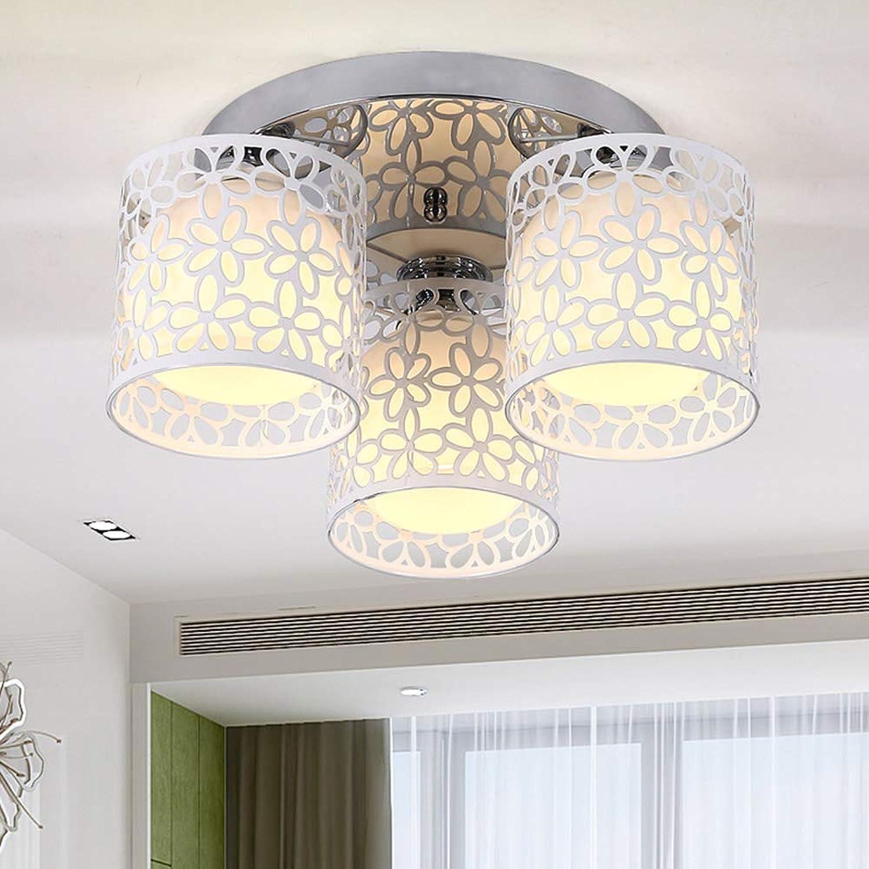 Yhongyang E27 Moderne und einfache LED-Hohlllen-Decken-Mode Mode Wohnzimmer Esszimmer-Lampe 3 kreative Beleuchtung [Energiesparen + +],Weißbubble