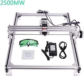 MYSWEETY DIY CNC Laser Engraver Kits, 40x50cm 2500mW Wood Carving Engraving Cutting Machine Desktop Printer Logo Picture Marking, 2 Axis