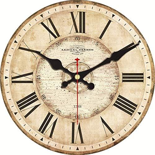 ARLT Vintage Inspirado Hombre Cueva Cerveza Pared Reloj Vintage Reloj Reloj Retro 1960s Shabby Creativo Europeo Chic Relojes Negro (Sheet Size : 14 Inch (34 cm))