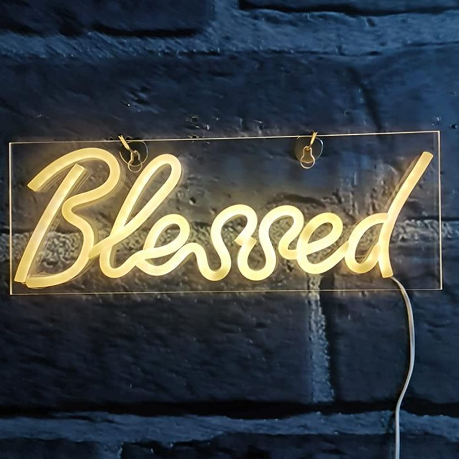 Ranking TOP8 HSART Blessed Neon Sign lowest price Signs Wall Art Decor for