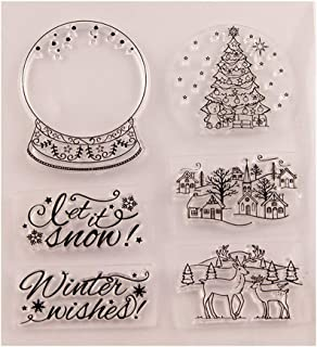 Best let it snow rubber stamp Reviews