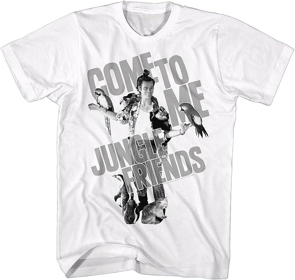 Ace Ventura Jungle Friends T-Shirt, White