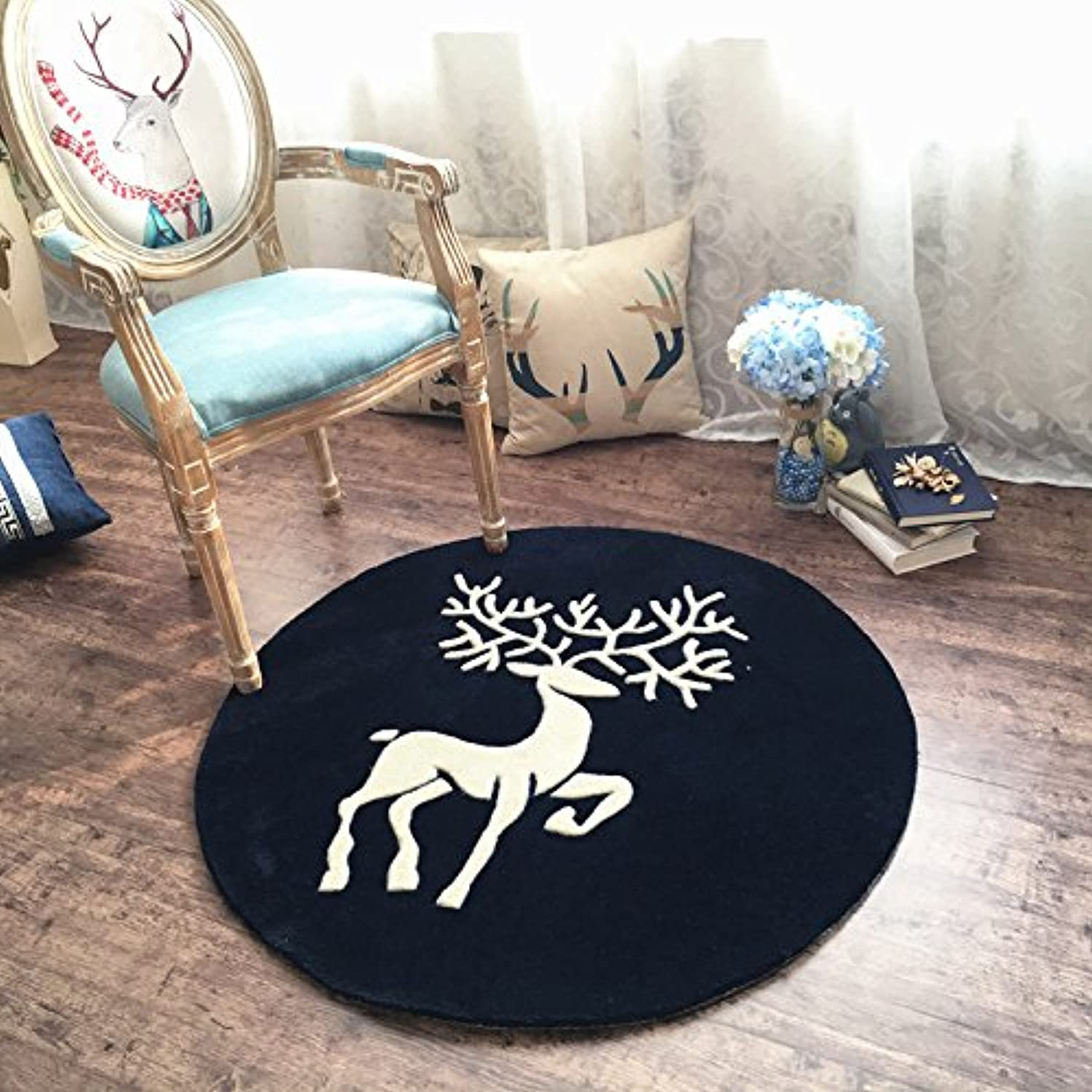 Living Room Bedroom Study Round Carpet Bedside Chair Chair Computer Chair Round Carpet Living Room Sofa Coffee Table Round mat (Size   Diameter 100cm)