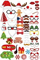 Ourファッション誕生日ウェディングパーティー写真ブース小道具DIYキットfor Reunions Photo Props Christmas Props 52PCS PP-002-Xmas 52PCS