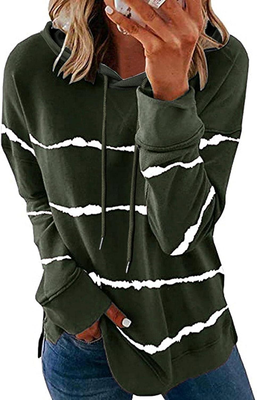 Sweatshirts for Women,Womens Crewneck Sweatshirt Graphic Stripe Vintage Funny Aesthetic Long Sleeves Shirt Pullover