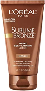 L'Oreal SUBLIME BRONZE Tinted Self-Tanning Lotion Medium Natural Tan 5 oz