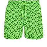 Vilebrequin – Costume da bagno da uomo, ultra leggero e pieghevole, con micro tonda delle tartarughe fluo verde fluo 12 Mesi