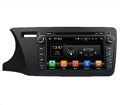 KUNFINE Android 9.0 Otca Core 4GB RAM Car DVD GPS Navigation Multimedia Player Car Stereo for Honda City 2014 Left Radio Headunit Steering Wheel Control Bluetooth Free Map