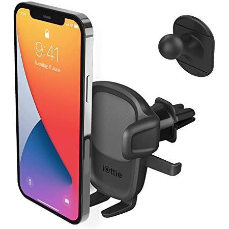 iOttie Easy One Touch 5 Air Vent Universal Car Mount Phone Holder W/Flush Mount for iPhone, Samsung, Moto, Huawei, Nokia, LG, Smartphones