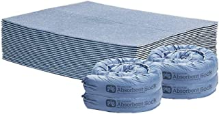 New Pig Quick Response Home Water Absorbing Kit – Includes 4 Small Absorbent Socks & 25 Super Absorbent Water Pads