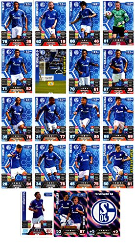 Match Attax Bundesliga 2014 2015 - 19 Karten-Set FC Schalke 04 S04 Clubkarte Kapitän Duo-Karte - Deutsch