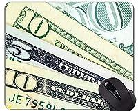 カスタムオリジナルマウスパッド、お金アメリカの段落滑り止めゴムベースマウスパッド