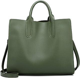Heshe Faux Leather Women Handbags Tote Bag Top Handle Bag Shoulder Handbag Ladies Designer Satchel Purse Crossbody Bag