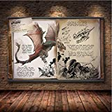 NOBRAND Ark: Survival Evolved Poster Game Lienzo Poster Painting Decorativo Wall Wallpaper Living Room Poster Lienzo Pintura Decoración 40X50Cm (M: 0507)