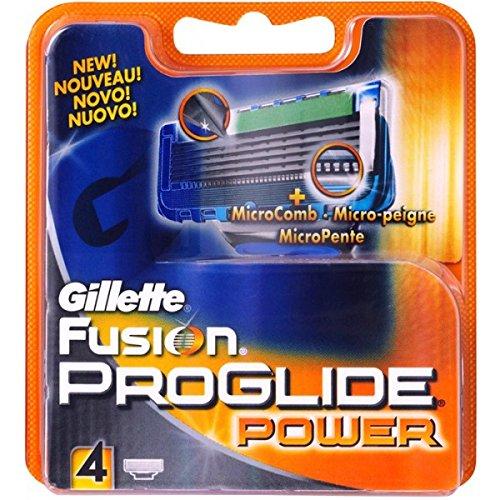 Gillette Fusion ProGlide Power Rasierklingen 4 Stück