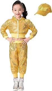 7cc53655b346 Spedizione GRATIS da Amazon. Lolanta Set di Vestiti di Ballo di Strada di  Costume delle Ragazze Paillettes Hip-Hop