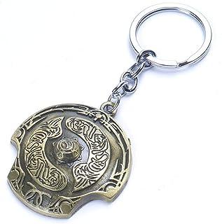 MEIHEK 1pc Dota 2 Immortal Champion Shield Key Chain Aegis of Champions Car Key Chain for Men Jewelry Accessories Gift